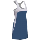 SSI Women's Amy Racer Back Tennis Dress (White/ Navy) - SSI Apparel