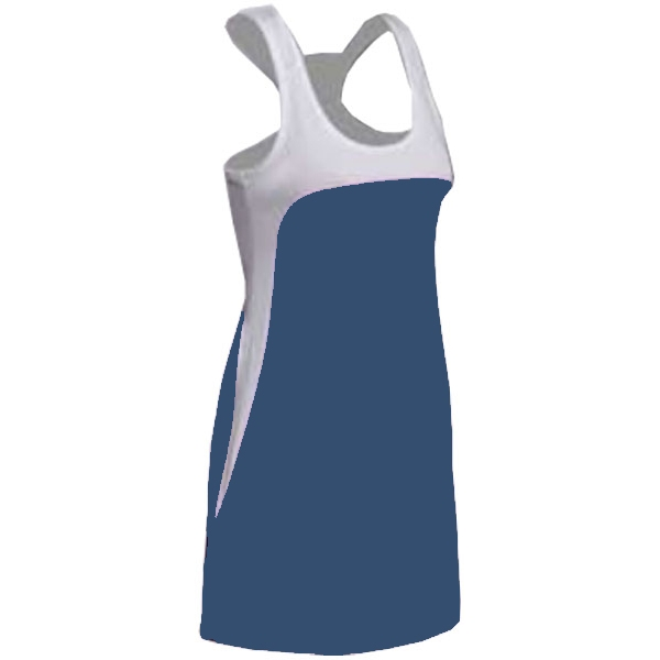 SSI Women's Amy Racer Back Tennis Dress (White/ Navy)