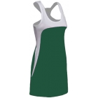 SSI Women's Amy Racer Back Tennis Dress (White/ Pine) - SSI Apparel