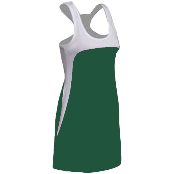 SSI Women's Amy Racer Back Tennis Dress (White/ Pine)