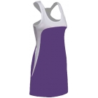 SSI Women's Amy Racer Back Tennis Dress (White/ Purple) - SSI Apparel
