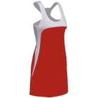 SSI Women's Amy Racer Back Tennis Dress (White/ Red) - SSI Apparel
