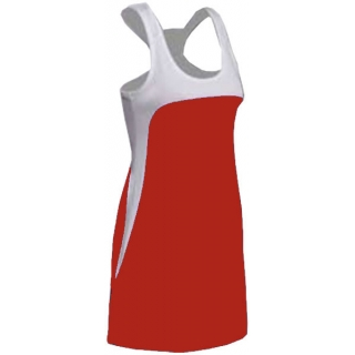 SSI Women's Amy Racer Back Tennis Dress (White/ Red)