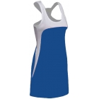 SSI Women's Amy Racer Back Tennis Dress (White/ Royal) - SSI Apparel