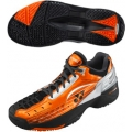 Yonex Men's Power Cushion 308CL Tennis Shoes (Black/Orange)