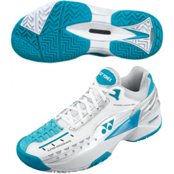Yonex Women's Power Cushion 308L Tennis Shoes (White/Blue)