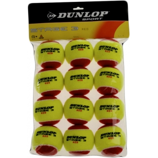 Dunlop Stage 3 Red Training Tennis Balls (12 pk)