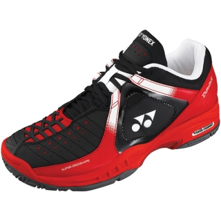 Yonex Men's Power Cushion Durable Tennis Shoes (Black/Red)