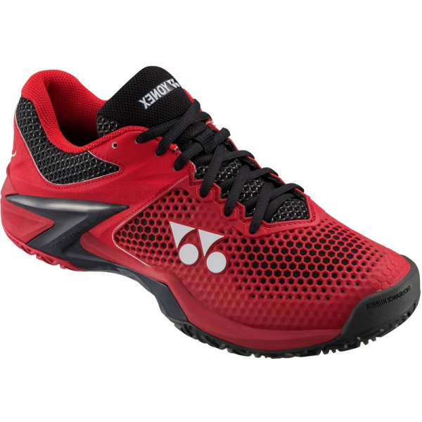 Yonex Men's Power Cushion Eclipsion II Clay Court Tennis Shoes (Red/Black)