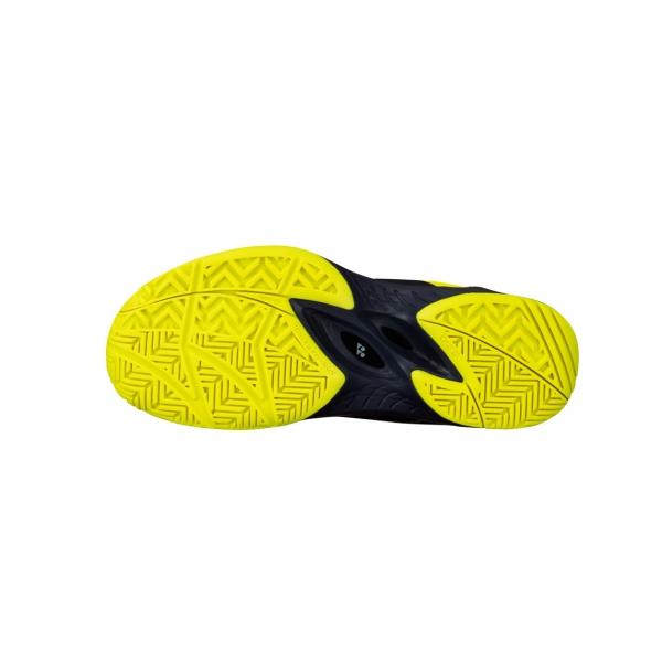 Yonex Junior Power Cushion Eclipsion 2 Tennis Shoes (Navy/Yellow)