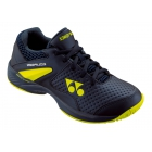 Yonex Junior Power Cushion Eclipsion 2 Tennis Shoes (Navy/Yellow) - Yonex Tennis Shoes
