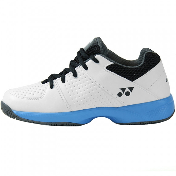 Yonex Junior Power Cushion Eclipsion 2 Tennis Shoes (White/Sky Blue)