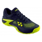 Yonex Men's Power Cushion Eclipsion 2 Tennis Shoes (Navy/Yellow) - Men's Tennis Shoes