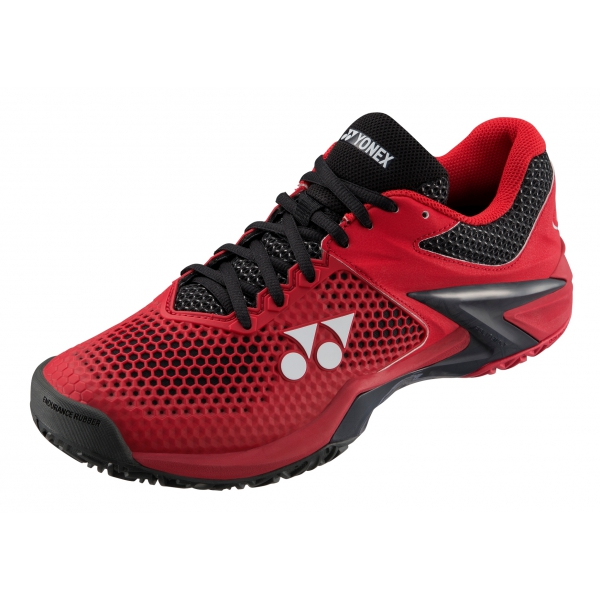 Yonex Men's Power Cushion Eclipsion 2 Tennis Shoes (Black/Red)