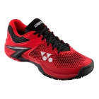 Yonex Men's Power Cushion Eclipsion 2 Tennis Shoes (Black/Red) - Men's Tennis Shoes