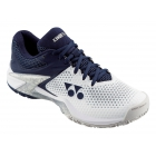 Yonex Men's Power Cushion Eclipsion 2 Tennis Shoes (White/Navy) - Men's Tennis Shoes