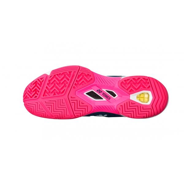 Yonex Women's Power Cushion Fushion Rev 3 Tennis Shoe (Navy/Pink)