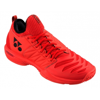 Yonex Men's Power Cushion Fusion Rev 3 Tennis Shoes (Red)