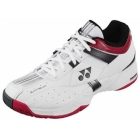 Yonex Women's Power Cushion Light Tennis Shoes (White/ Wine Red/ Black) - Yonex Tennis Shoes