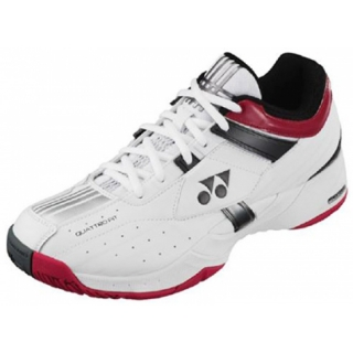 Yonex Men's Power Cushion Light Tennis Shoes (White/ Wine Red/ Black)
