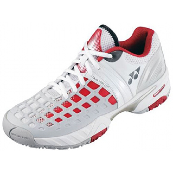 Yonex Men's Power Cushion Pro Tennis Shoes (White/Red)