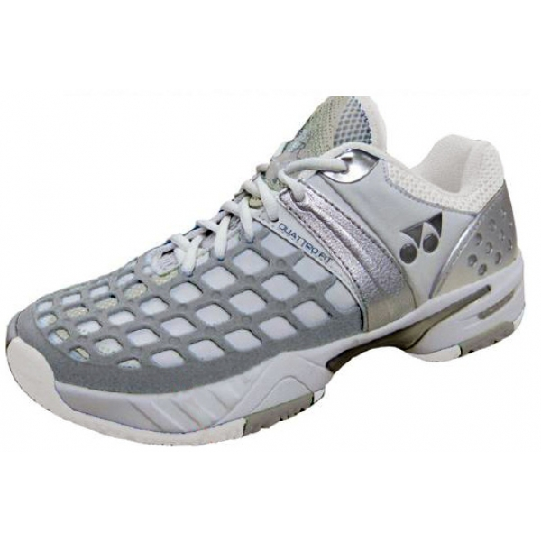 Yonex Women's Power Cushion Pro L Tennis Shoes (White/Grey)