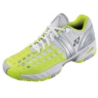 Yonex Women's Power Cushion Pro L Tennis Shoes (White/Yellow/Silver) - Yonex Tennis Shoes