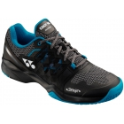 Yonex Men's Power Cushion Sonicage Clay Court Tennis Shoes (Black/Blue) - Men's Tennis Shoes