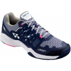 Yonex Women's Power Cushion Sonicage Clay Court Tennis Shoes (Navy/Pink) - Yonex Tennis Shoes