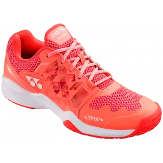 Yonex Women's Power Cushion Sonicage All Court Tennis Shoe (Coral Pink)
