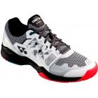 Yonex Men's Power Cushion Sonicage Wide Tennis Shoes (White/Black) - Men's Tennis Shoes