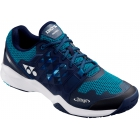 Yonex Men's Power Cushion Sonicage Wide Tennis Shoes (Blue/Navy) - Men's Tennis Shoes