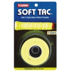 Tourna Soft Tac Neon Yellow Overgrip (3 Pack) - Tennis Over Grips