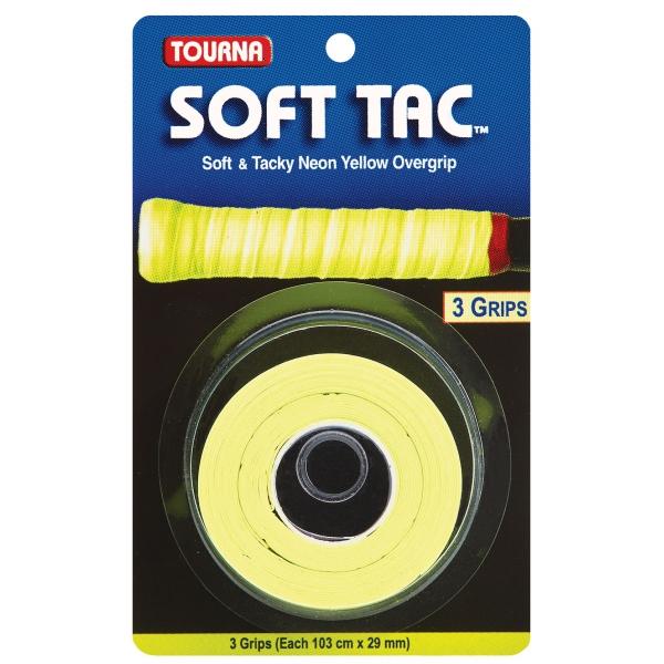 Tourna Soft Tac Neon Yellow Overgrip (3 Pack)