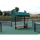 SunTrends Cabana Bench 8' - Shop the Best Selection of Tennis Court & Cabana Benches