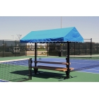 SunTrends Cabana Bench Table 10' - Tennis Benches