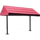 SunTrends Cabana Canopy 10' - Suntrends Tennis Benches