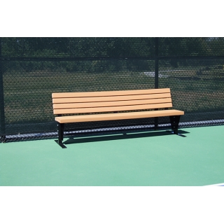 SunTrends Court Bench with Backrest 4'