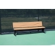 SunTrends Court Bench with Backrest 4' - Tennis Benches