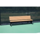 SunTrends Court Bench with Backrest 8' - Tennis Benches 7.5+ Feet