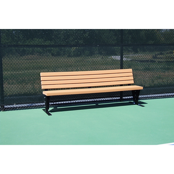SunTrends Court Bench with Backrest 8'
