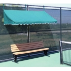 SunTrends Fence Canopy 10' - Suntrends Tennis Benches