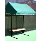 Suntrends Cabana Bench 4' no backrest #3334 - Suntrends Tennis Benches