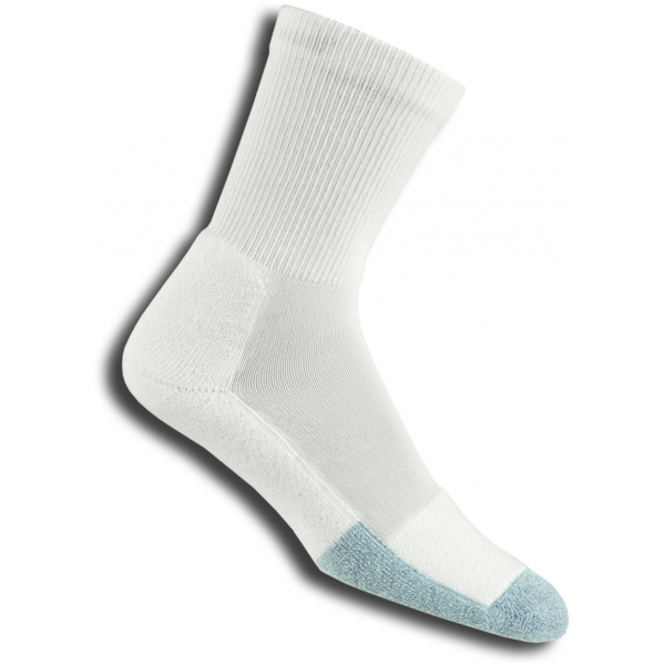 Thorlo T1CXU-12 Crew White Socks
