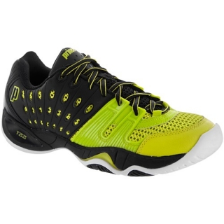 Prince Men's T22 Tennis Shoes (Black/ Electric Green)
