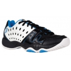 Prince Junior's T22 Tennis Shoes (White/ Black/ Energy Blue) - Kids Tennis Shoes