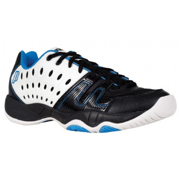 Prince Junior's T22 Tennis Shoe (White/ Black/ Energy Blue)