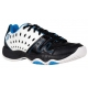 Prince Junior's T22 Tennis Shoe (White/ Black/ Energy Blue) - Prince Junior Tennis Shoes