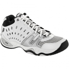 Prince Men's T22 Mid Tennis Shoes (White/ Black/ Silver) - Mid-Top Tennis Shoes