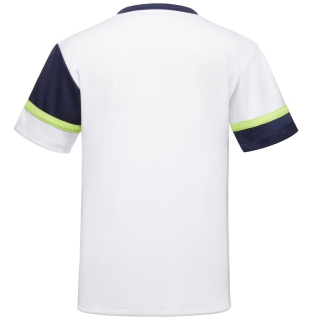 Fila Boy's Core Performance Doubles Tennis Crew (White/Navy/Acid Lime)